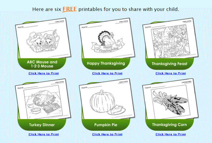 ABCMouse.com Thanksgiving