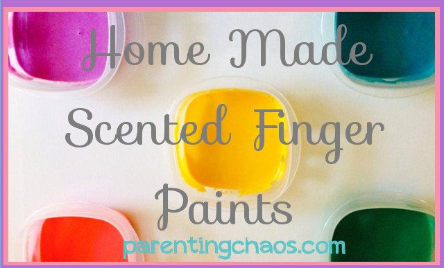 Homemade Scented Finger Paints