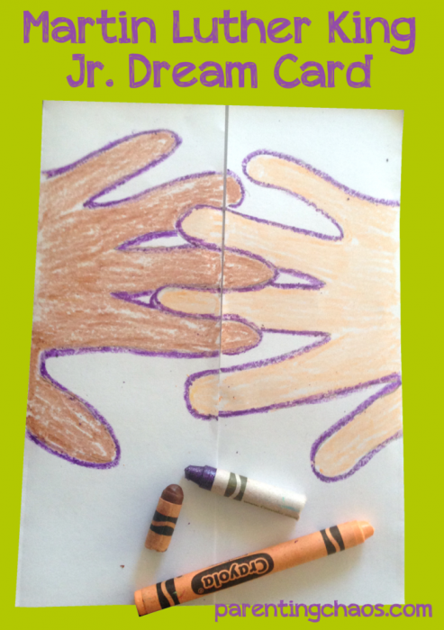 Martin Luther King Jr. Crafts- Dream Card