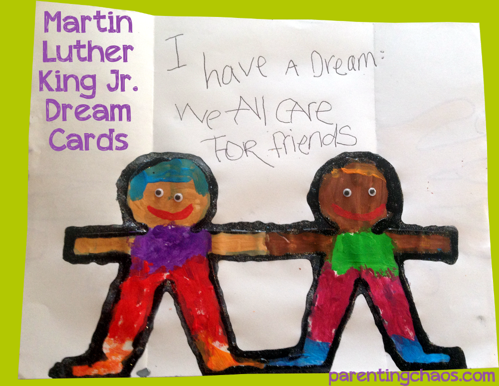 Martin Luther King Jr Crafts Dream Card