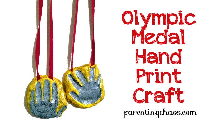 olympic hand print medal craft