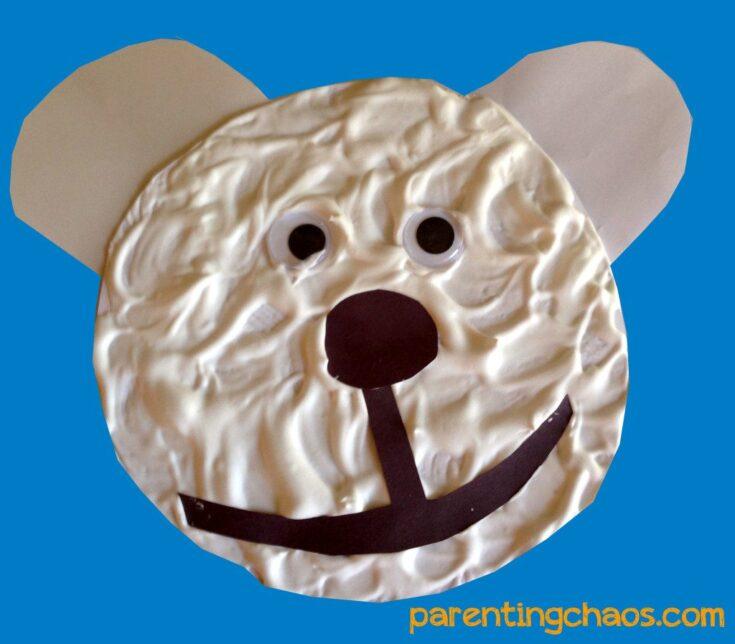 Shaving Cream Polar Bear