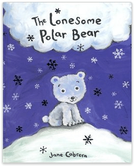 shaving cream polar bear craft, the lonesome polar bear Jane Cabrera