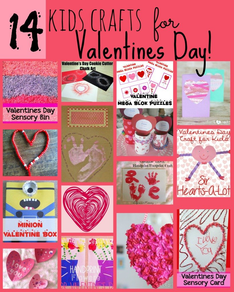 14 Kids Crafts for Valentines Day!