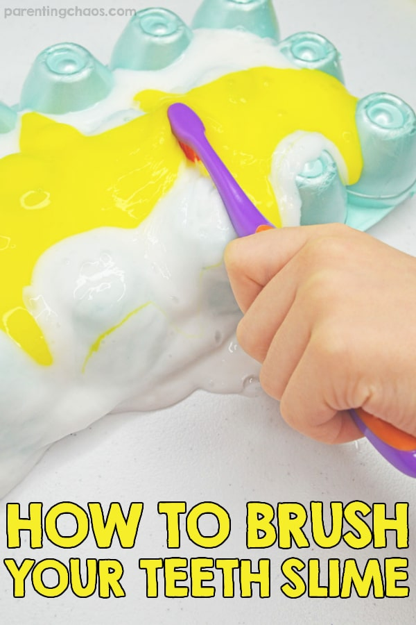 How to Brush Your Teeth Slime Activity