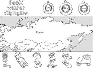 Sochi Olympic Play Dough Mats