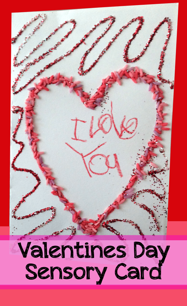 valentines day card and sensory play, Ideas
