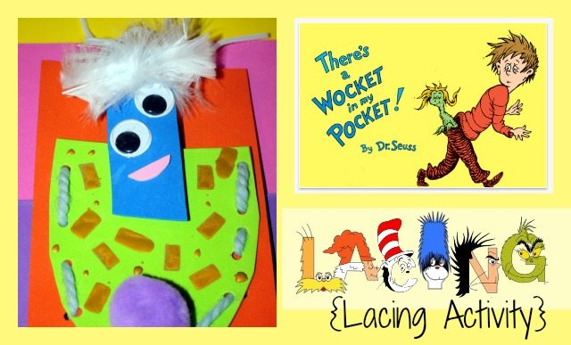There's a Wocket in My Pocket Lacing Activity | Parenting Chaos