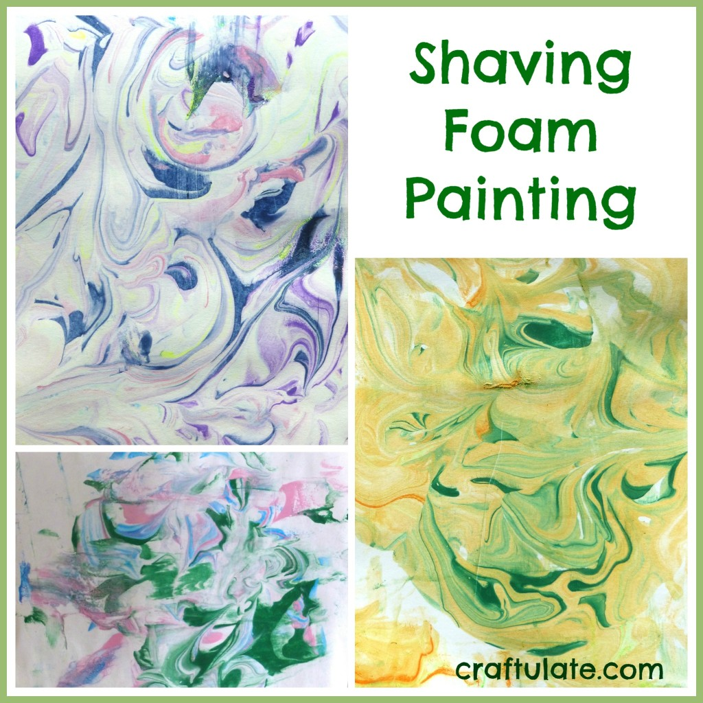 Shaving Foam Paint, Marbled Shamrock Math Counters