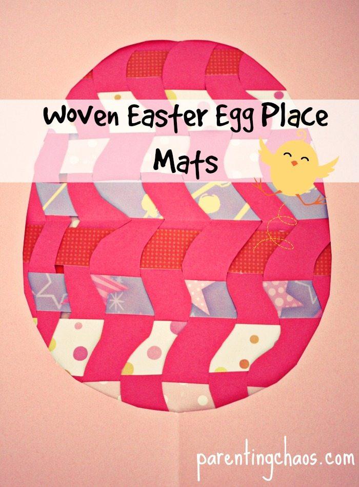 Woven Easter egg place mats