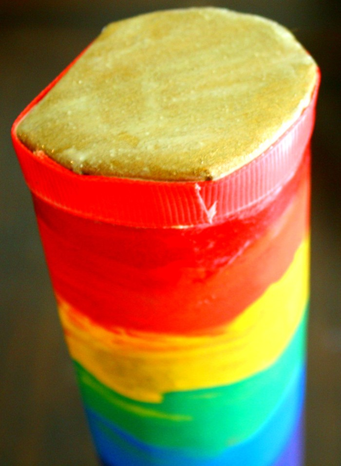 rainbow rain stick craft