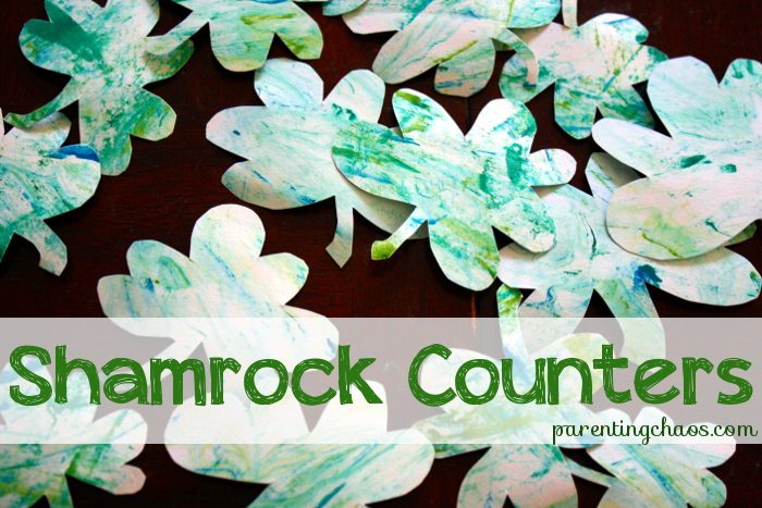 Marbled Shamrock Math Counters