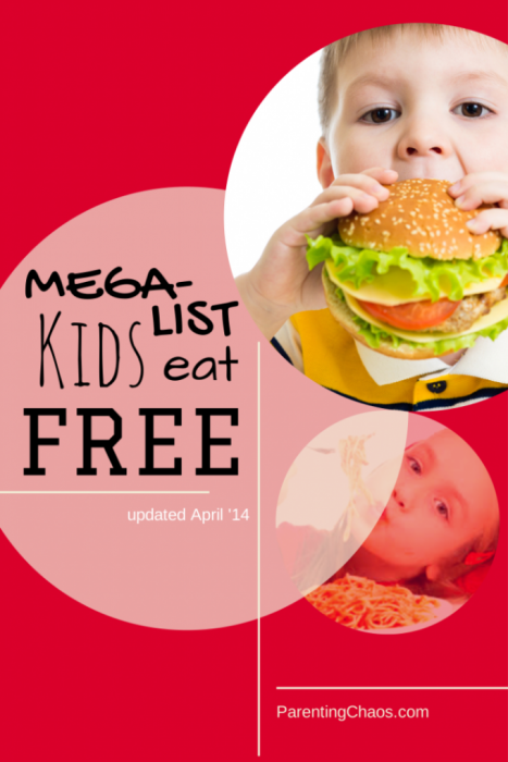 Kids Eat Free Restaurant Deals