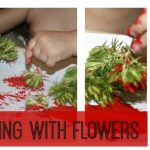 Letting Your Kids Paint with Your Mother's Day Flowers!