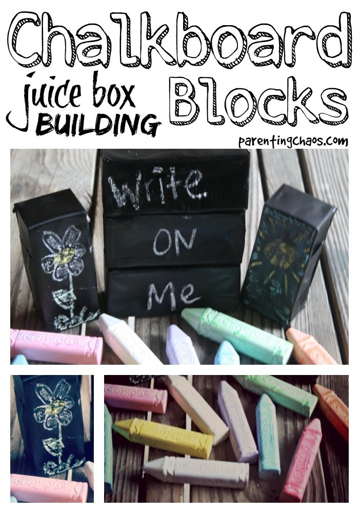 homemade chalkboard blocks
