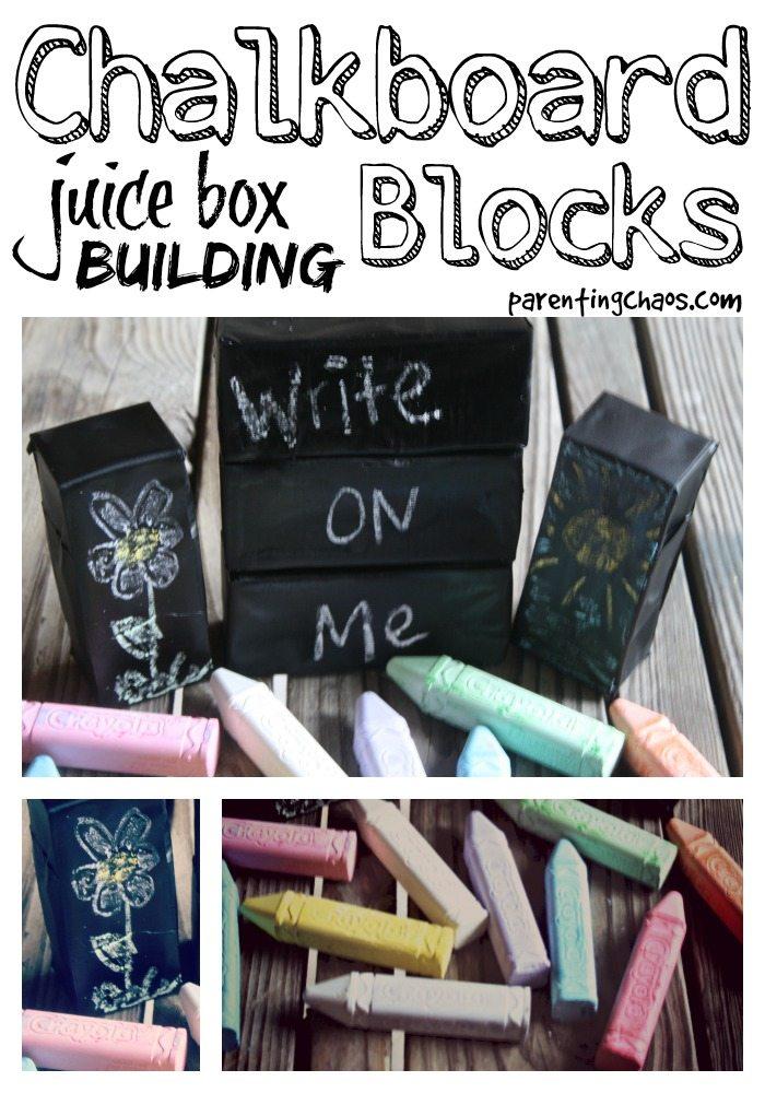homemade chalkboard blocks