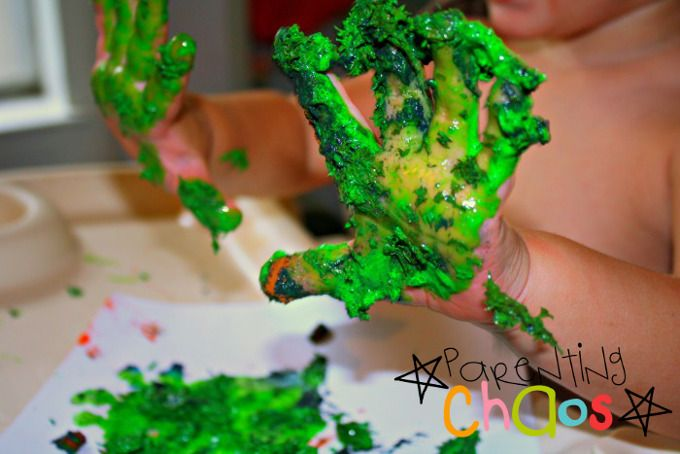 home made textured finger paints: Messy Fun!