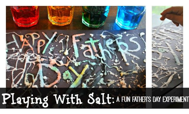 Salt Painting: A Fun Father's Day Gift