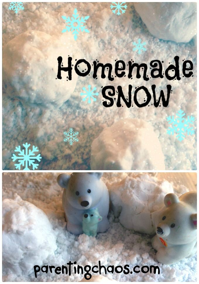 DIY Sensory Snow for Preschool