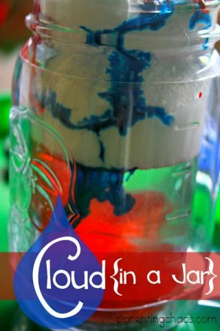 Rain Cloud in a Jar: A fun Hands on Science Experiment for Kids