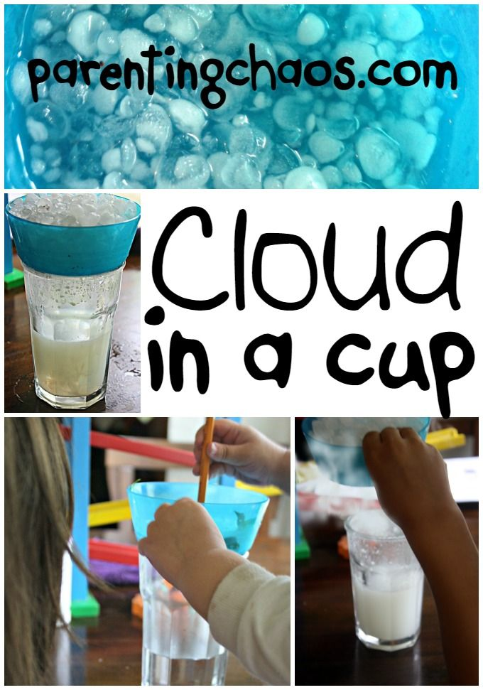 Cloud in a Cup: Condensation Science Experiment for Preschool