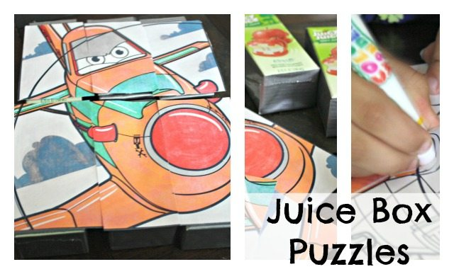 DIY Juice Box Puzzles