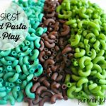Easiest Dyed Pasta for Play