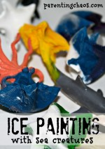 Ice Painting with Sea Creatures