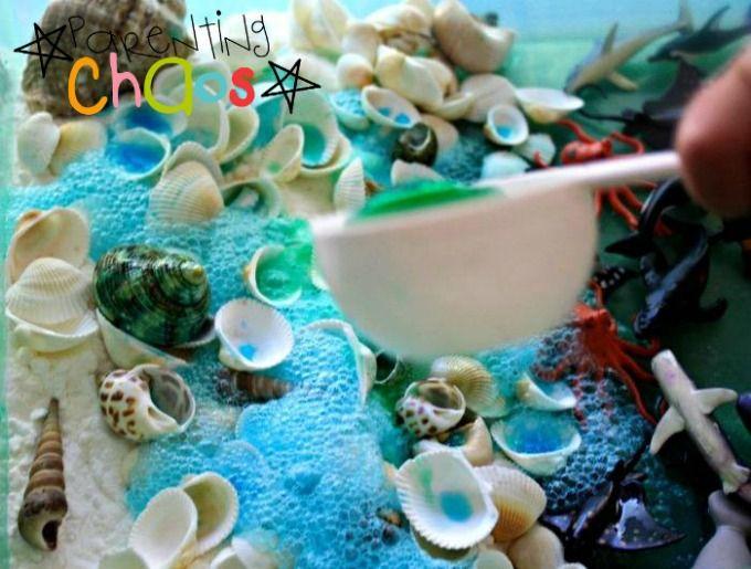 Marine Life Sensory Bin - A Bubbly Small World