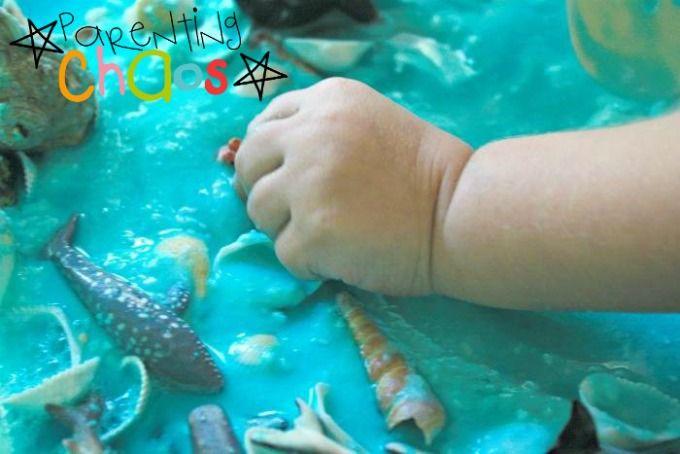 Marine Life Sensory Bin Goop