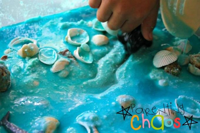 Marine Life Sensory Bin Making Trails