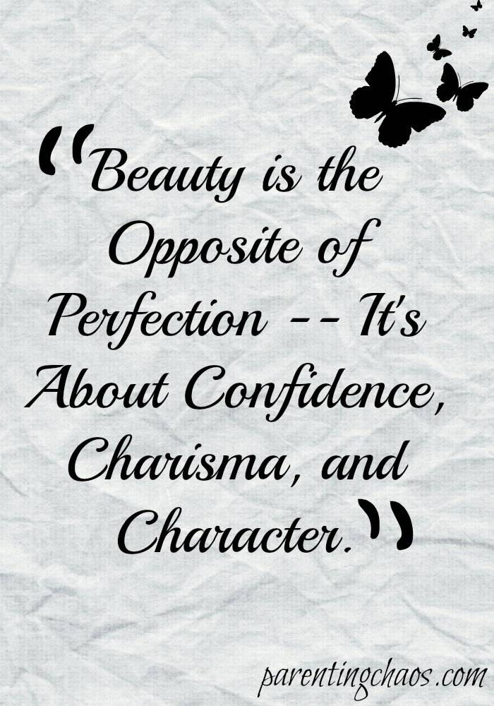 Beauty is not Perfection Quote