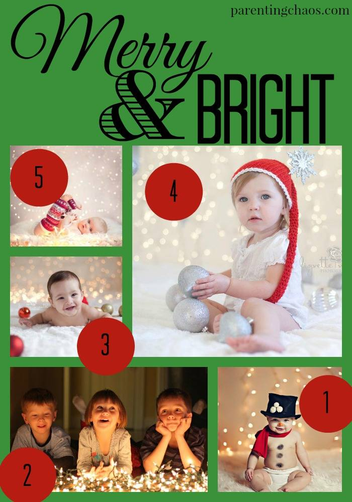 Merry and Bright Christmas Card Theme