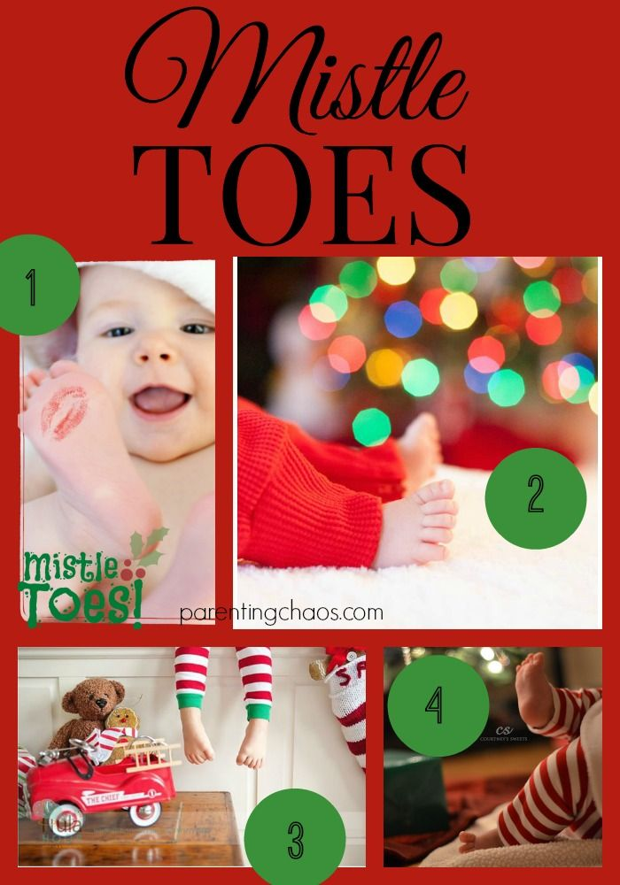 Mistle Toes Christmas Card Theme