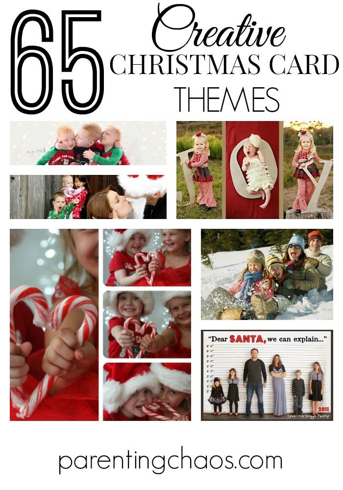65 Creative Christmas Card Themes #HolidayCardThemes