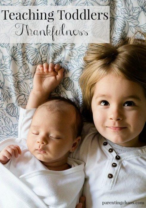 Teaching Toddlers Thankfulness