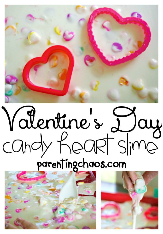 Valentine's Day Candy Hearts Slime