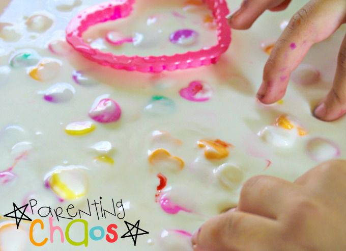 Valentine's Day Candy Hearts Slime Exploring Consistency