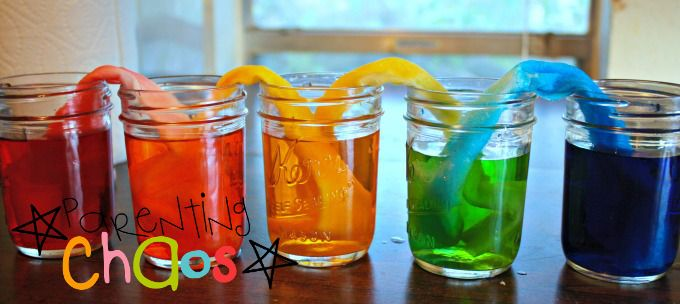Crawling Colors! Color Mixing Science Experiment for Preschoolers- Make the Rainbow