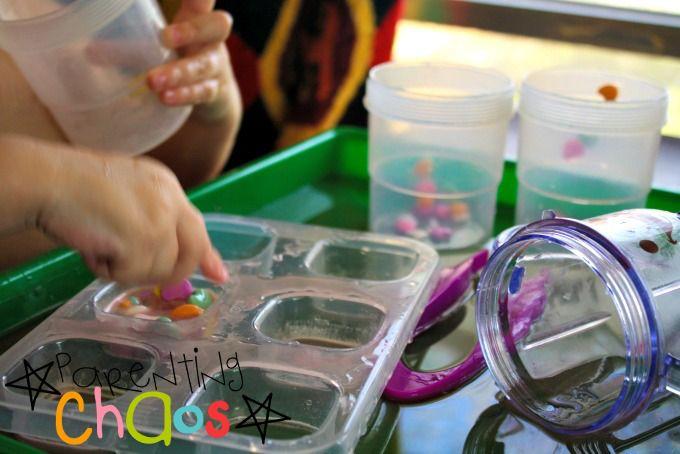 Melting Hearts! Dissolving Conversation Hearts Science Experiment exploring textures