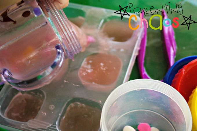 Melting Hearts! Dissolving Conversation Hearts Science Experiment water Dump