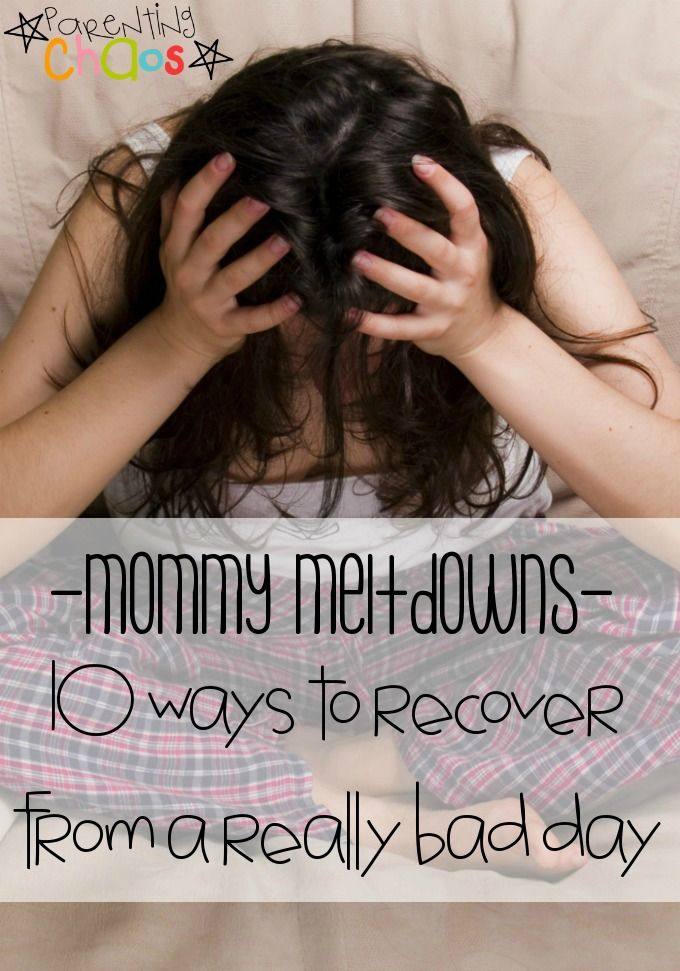 Recovering from a Mommy Meltdown: 10 Tips to Regain Your Sanity