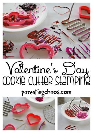 Valentine's Day Cookie Cutter Stamping
