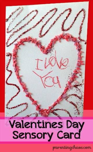 Valentine's Day Sensory Card