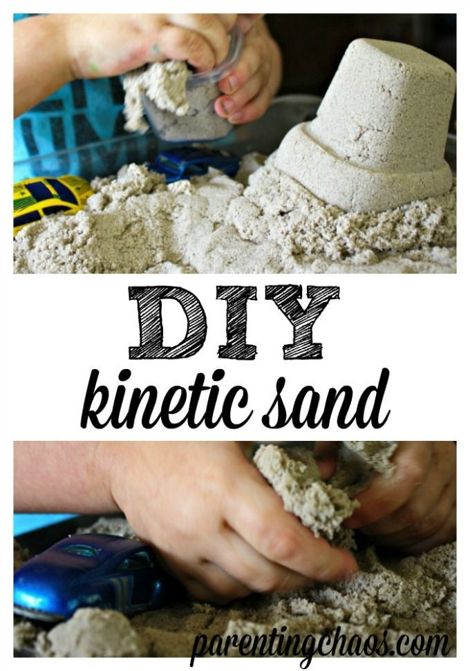 diy kinetic sand. Black Bedroom Furniture Sets. Home Design Ideas