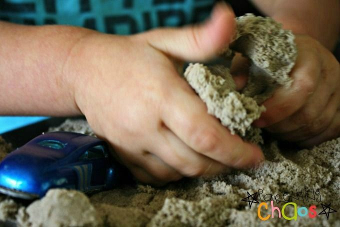 DIY Kinetic Sand is Dry to the Touch and Squishy to Squeeze