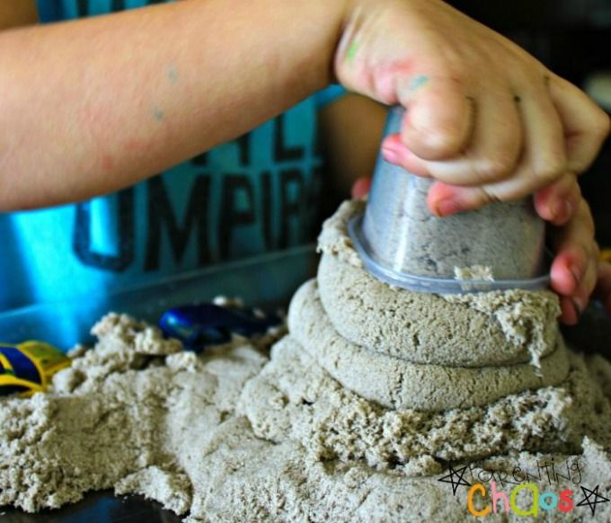 DIY Kinetic Sand is Moldable and Fun to Stack!