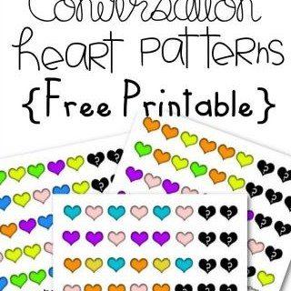 FREE Conversation Hearts Pattern Math Worksheets for Preschool