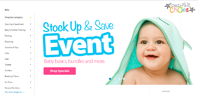 Pampers Stock Up and Save Event at Walmart.com