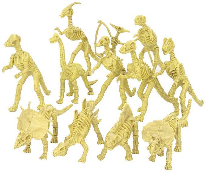 Assorted Dinosaur Fossil Skeleton